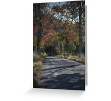 Hayfield Road (looking downhill) Greeting Card