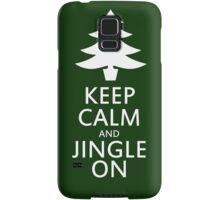Keep calm and jingle on for christmas  Samsung Galaxy Case/Skin