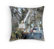 Pruning on a larger scale Throw Pillow