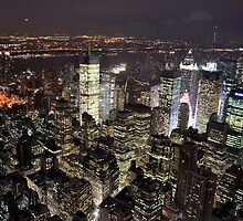 Amazing City Lights of Manhatten by Rosy Kueng