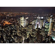 Amazing City Lights of Manhatten Photographic Print