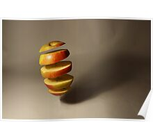 Floating apple sections Poster