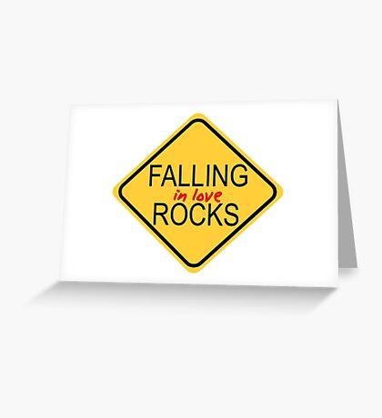 Falling in love rocks Greeting Card