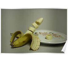 Sliced banana chunks Poster