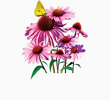 Yellow Sulphur Butterfly on Coneflower Womens Fitted T-Shirt