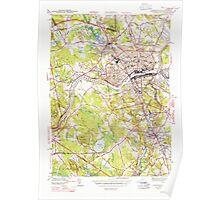 Massachusetts  USGS Historical Topo Map MA Lawrence 351823 1944 31680 Poster