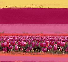 field of tulips by 1mondeapart