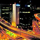 tokyo lights cityscape by russtokyo