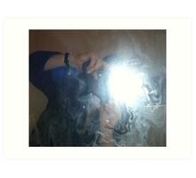 Self portrait with flash Art Print