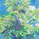 Colorful Tree and Sky by ArtLuver