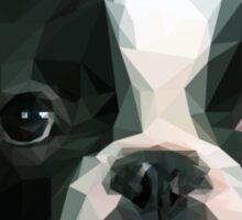 Polygonal Cubism French Bulldog Sticker