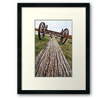 Long Look at a Wagon Cut Short Framed Print