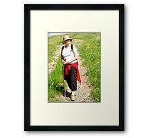 Tuscany trek Framed Print
