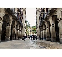 Barcelona, Plaza Real  Photographic Print