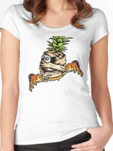 Mummified Pineapple Monster Women's Fitted Scoop T-Shirt