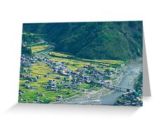 mountain community Greeting Card