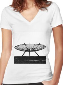 The Halo - Panoptican Women's Fitted V-Neck T-Shirt