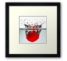 Raspberry Drop I Framed Print