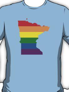 LGBT Flag Map of Minnesota  T-Shirt