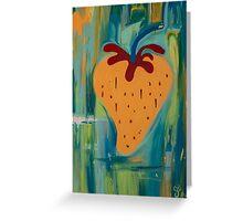 Blue Strawberry  Greeting Card