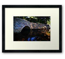 Dunster Bridge Framed Print
