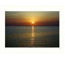 Sunset Across The Bay Art Print
