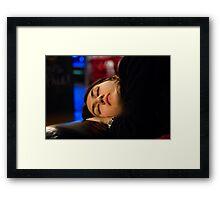 theatre, a girl sleeping Framed Print