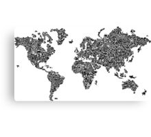 World Map of Stereotypes Canvas Print