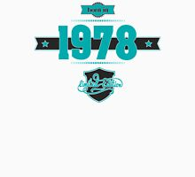 Born in 1978 (Blue&Darkgrey) Men's Baseball ¾ T-Shirt