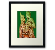 C'mon Bats, get crazy. It's the only way to beat me! Framed Print