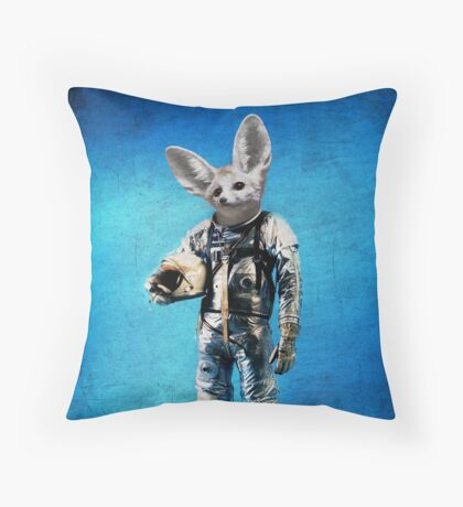 Fennec the captain Throw Pillow