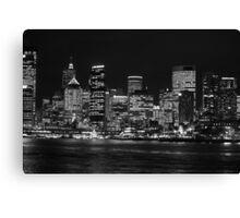 Circular Quay, Sydney B&W Canvas Print