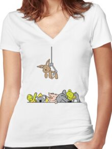 Don't Drop the Prize Women's Fitted V-Neck T-Shirt