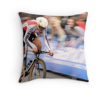 UCI 2010 Fabian Cancellara with his fourth world title part 2 Throw Pillow