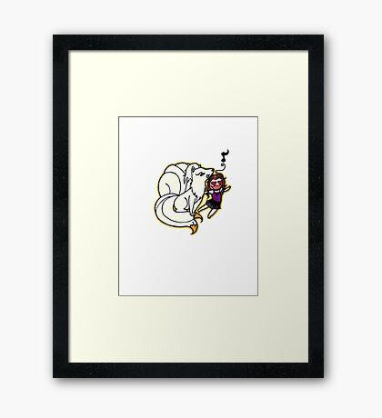 Ninetails Framed Print