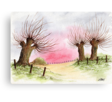 WILLOW TREES Canvas Print
