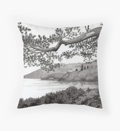 From A Photo Of Karl Williams - Pen Drawing Throw Pillow