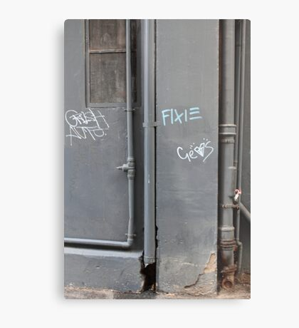 Fixie Metal Print