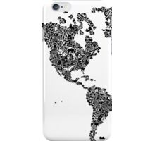 America Map iPhone Case/Skin
