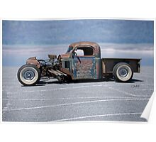 1940 REO Rat Rod Pickup 'Profile' Poster
