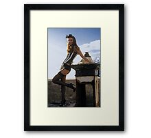 scrap and corset fashion  Framed Print