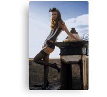 scrap and corset fashion  Canvas Print