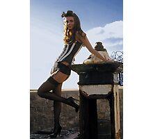 scrap and corset fashion  Photographic Print