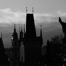 Silhouette from Charles Bridge - Prague by darylbowen