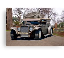 Rat Rod Panel 'Crypt Cruz'r' Canvas Print