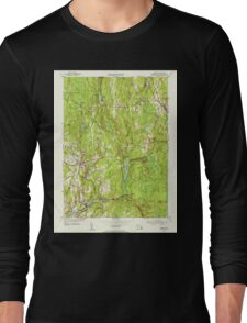 Massachusetts  USGS Historical Topo Map MA Barre 351513 1954 31680 Long Sleeve T-Shirt