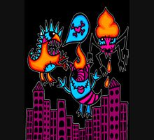 monsters in the city black Unisex T-Shirt