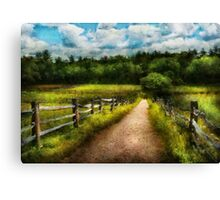 Country - Every journey starts with a path  Canvas Print