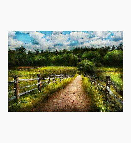 Country - Every journey starts with a path  Photographic Print