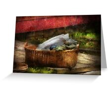 Country - Laundry  Greeting Card